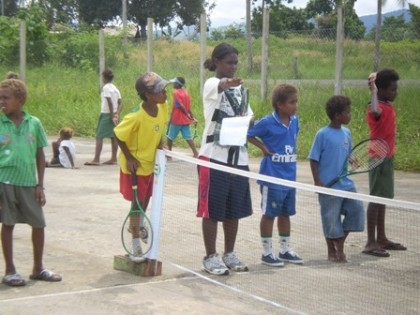 ANZ School Tennis. Photo credit: Fox Sports.