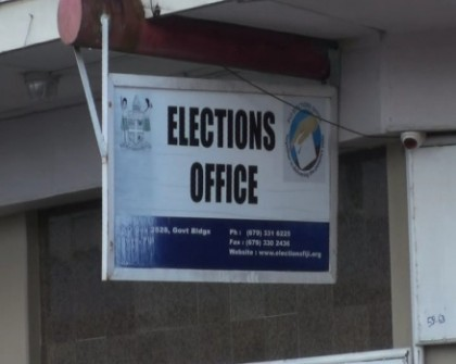 Elections office in Fiji. Photo credit: FBC.