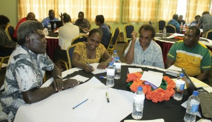 Participants at the Consultation's group discussion. Photo credit: MNURP.