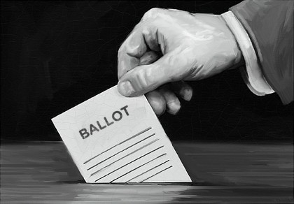 Portrait of a voting ballot. Photo credit: Radio Facts.