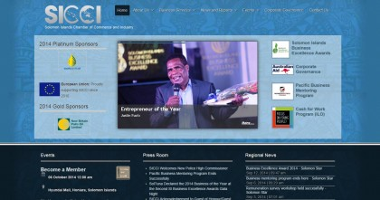 The new SICCI website. Photo credit: SIBC.