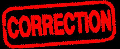 Correction sign. Photo credit: Benonicitytimes.com