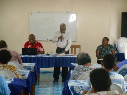 Lennis Rukale Presented his remark at the opening of the MOI Conference. Photo credit: GCU.