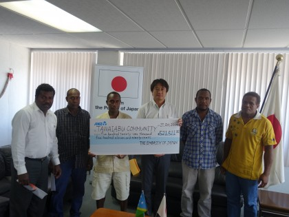 Members of the Arosi community and Japanese Ambassador Tomohiro Odai. Photo credit: SIBC.
