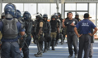 Police officers during the training. Photo credit: RSIPF.