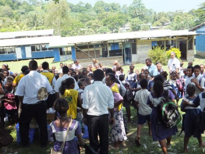 School children at the school. Photo credit: Mitchell Missionary Messages.