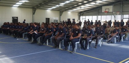 The police officers who received their certificates after the POM training. Photo credit: SIBC.