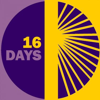 16 Days of Activism logo. Photo credit: 16dayscwgl.rutgers.edu