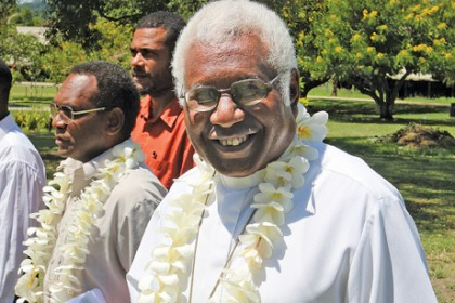 Archbishop of the Anglican Church of Melanesia the Most Reverend David Vunagi. Photo credit: http://www.anglicannesw.org