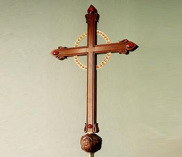 Church crucifix. Photo credit:  www.desmarais-robitaille.com