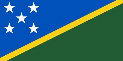 Flag of the Solomon Islands. Photo credit: origin.m.radioaustralia.net.au