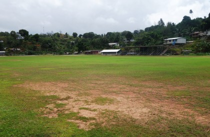 A sports ground in Ngella, Central Province. Photo credit: SIBC.
