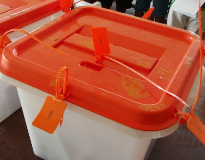 A ballot box used in the 2014 Elections. Photo credit: SIBC.