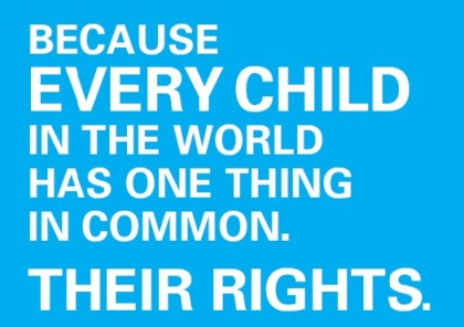 Convention on the Rights of the Child poster. Photo credit: www.unicef.org