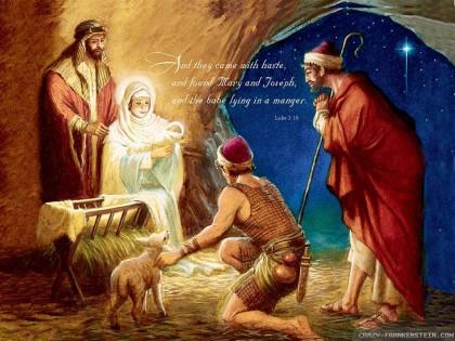 Old nativity christian Christmas wallpapers. Photo credit: www.lakewoodbaptistsbc.com