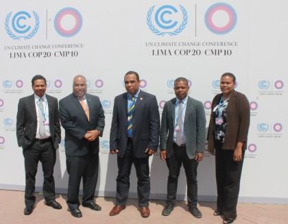 The Solomon Islands delegation. Photo credit: Chanel Iroi.