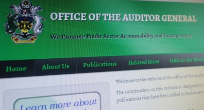 A screen shot of the Office of the Auditor General's Website. Photo credit: SIBC.