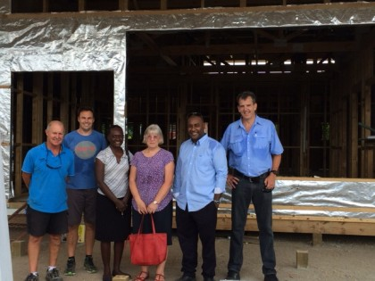 New Zealand High Commissioner Marion Crawshaw and the visiting team. Photo credit: NZ High Commission Honiara.