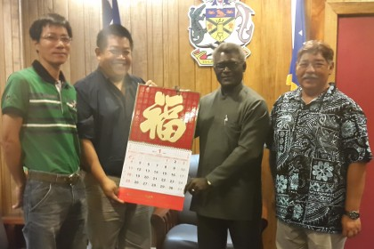 Prime Minister Manasseh Sogavare and members of the Solomon Islands Chinese Association. Photo credit: OPMC.