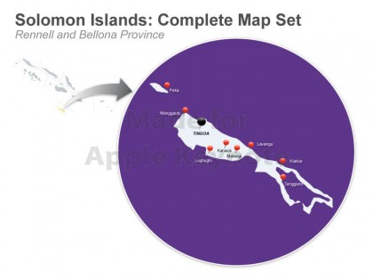 Rennell Bellona Province map. Photo credit: www.muezart.com