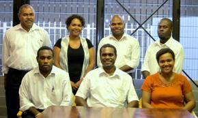 Members of the new Executive for the Solomon Islands Bar Association. Photo credit: South Pacific Lawyer's Association online.