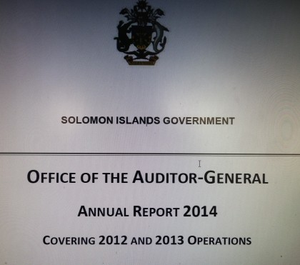 The Audit Report 2014. Photo credit: SIBC.