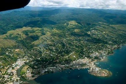 An Ariel view of Honiara and its outskirts. Photo credit: www.panoramio.com