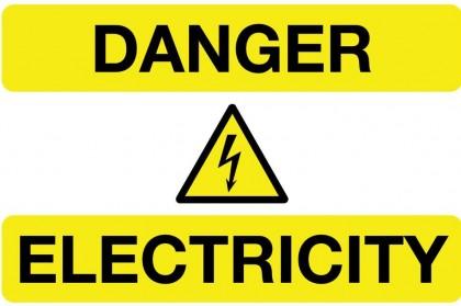 Danger of Electric Shock. Photo credit: logo-kid.com.
