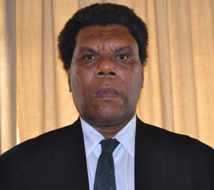 Hon. Duddley Kopu, Minister of Agriculture and Livestock and MP for Temotu Nende. Photo credit: GCU.