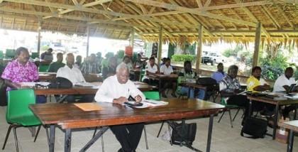 MNURP Staff  on Planning workshop. Photo credit: MNURP.