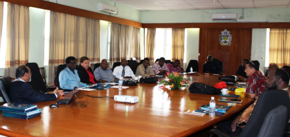 Professor Chandra briefs Cabinet on the progress of the fourth USP Campus Project. Photo credit: OPMC.