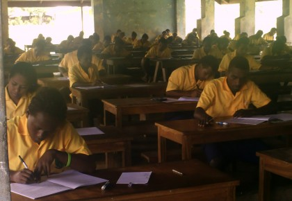 Students sitting for exams in 2013 at the College. Photo credit: sirdudleytuticollege.wordpress.com