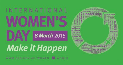 International Women's Day 2015. Photo credit: volunteeringqld.org.au