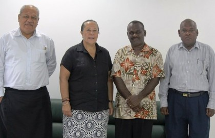 Opposition Leader meeting Dame Meg Taylor yesterday. Photo credit: Office of the Leader of Opposition.