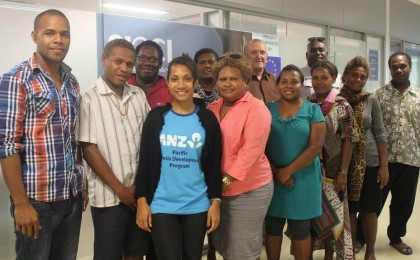 Participants of the 'Train the Trainer' training of SICCI SME Development Programme, with Chris Elphick, facilitator. Photo credit: SICCI.