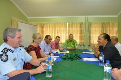 RAMSI delegation meets PIFS SG. Photo credit: Johnson Honimae.