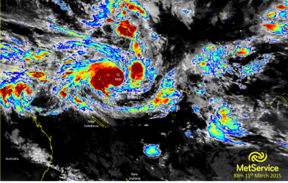 The Tropical Cyclone Pam. Photo credit: blog.metservice.com