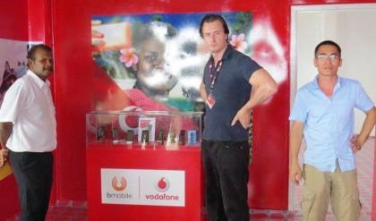 Bmobile Vodafone CEO and Deputy Premier Alick Maeaba at the opening. Photo credit: Bmobile Vodafone.