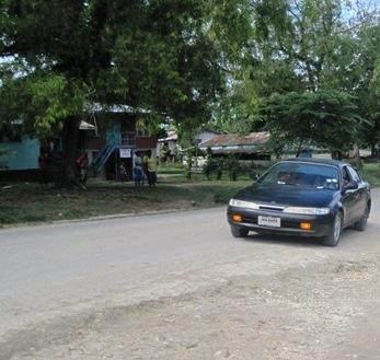 Car on the Auki road. Photo credit: www.foxsportspulse.com