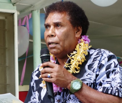 Chairperson of the Solomon Islands Ports Authority Board, Nollen Leni. Photo credit: SIBC.