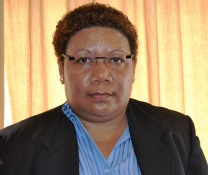 Hon Freda A.B. Tuki, Minister of Rural Development and MP for Temotu Vatud. Photo credit: GCU.