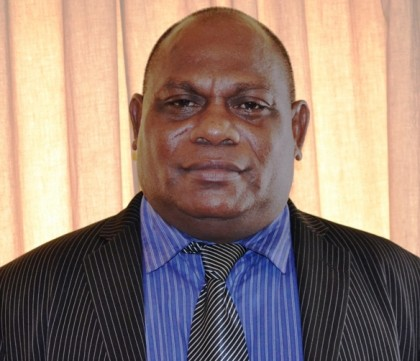 Hon. Stanley Festus Sofu, Minister for Infrastructure Development and MP for East Kwaio. Photo credit: GCU.