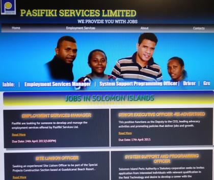 Pasifiki's new Web page. Photo credit: SIBC.