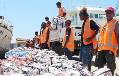 The relief supplies bound for Temotu. Photo credit: SIBC.