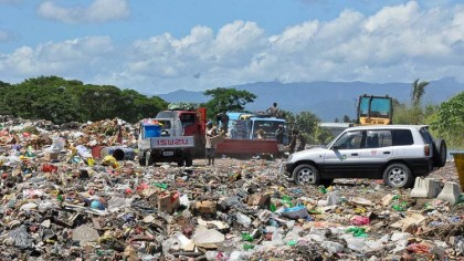At the dump site prior to having the office building. Photo credit: www.honiaracitycouncil.com