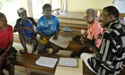 Belaha community members at a similar workshop held last year. Photo credit: SITAG.