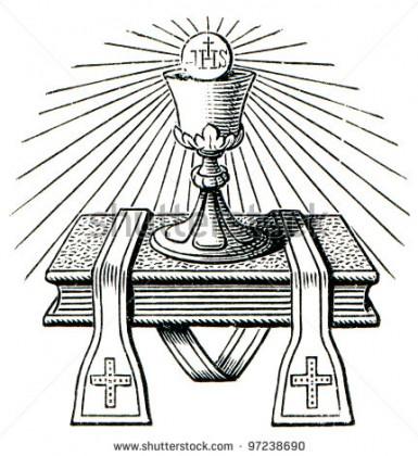 The Catholic emblem of priesthood. Photo credit: www.shutterstock.com