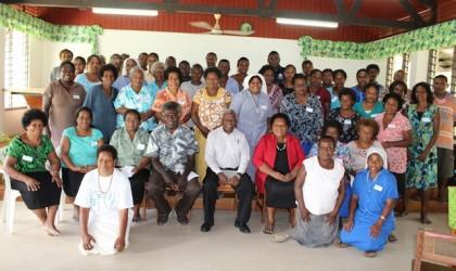 Workshop Participants with MNURP Permanent Secretary Mr Lennis Rukale (Centre). Photo credit: MNURP.