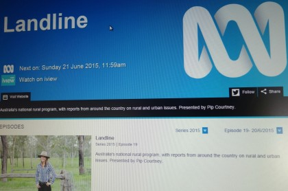 ABC TV program Landline on the web. Photo credit: SIBC.