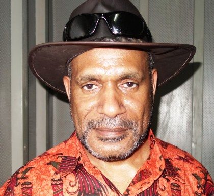 Exiled West Papua Leader and the founder of Free West Papua Campaign Benny Wenda. Photo credit: SIBC.
